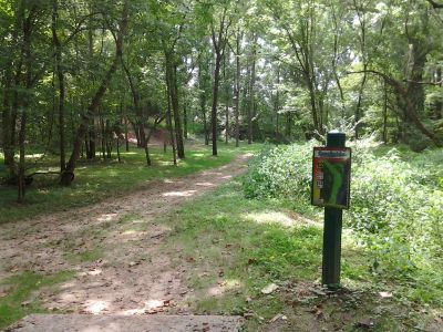Creekside Park, Creekside Park Disc golf, Hole 12 Long tee pad