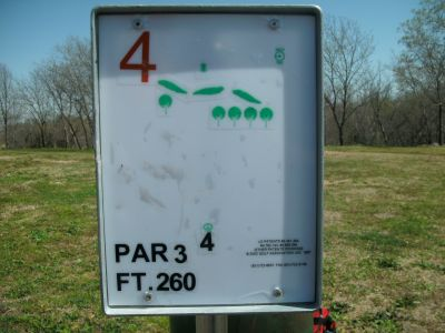 Saddle Hills, Main course, Hole 4 Hole sign