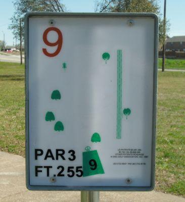 Saddle Hills, Main course, Hole 9 Hole sign