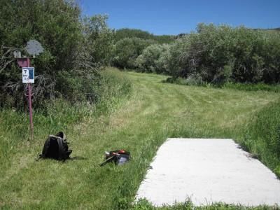 Art Kelly Park, Soda Springs DGC, Hole 7 Long tee pad