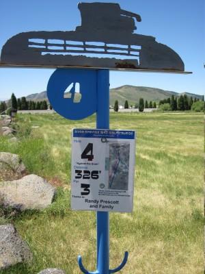 Art Kelly Park, Soda Springs DGC, Hole 4 Long tee pad