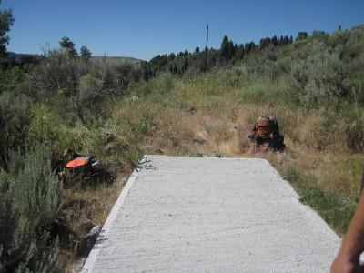 Art Kelly Park, Soda Springs DGC, Hole 18 Long tee pad