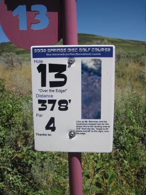 Art Kelly Park, Soda Springs DGC, Hole 13 Long tee pad
