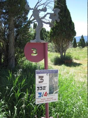 Art Kelly Park, Soda Springs DGC, Hole 3 Long tee pad