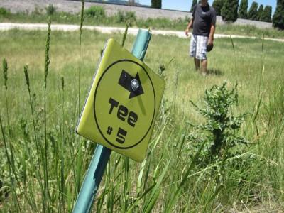 Art Kelly Park, Soda Springs DGC, Hole 5 Hole sign