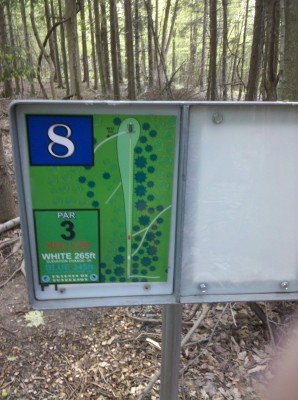 Punderson State Park, Friends of Punderson DGC, Hole 8 Hole sign