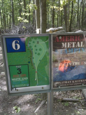 Punderson State Park, Friends of Punderson DGC, Hole 6 Hole sign