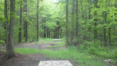 Punderson State Park, Friends of Punderson DGC, Hole 1 Long tee pad