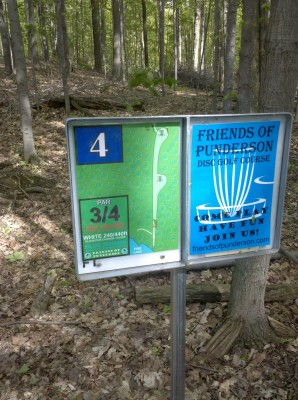 Punderson State Park, Friends of Punderson DGC, Hole 4 Hole sign