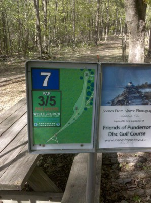 Punderson State Park, Friends of Punderson DGC, Hole 7 Hole sign