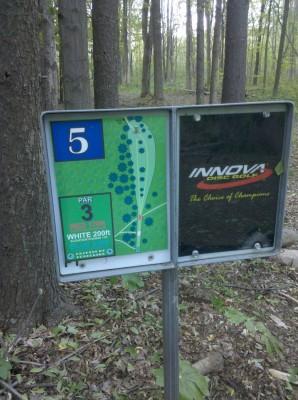 Punderson State Park, Friends of Punderson DGC, Hole 5 Hole sign