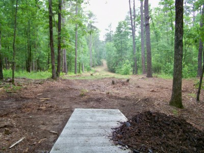 International Disc Golf Center, Jim Warner Memorial, Hole 8 Tee pad