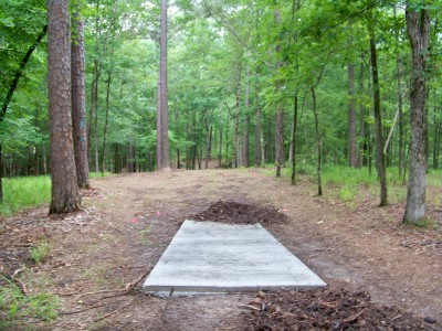 International Disc Golf Center, Jim Warner Memorial, Hole 6 Tee pad