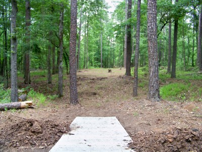 International Disc Golf Center, Jim Warner Memorial, Hole 3 Tee pad