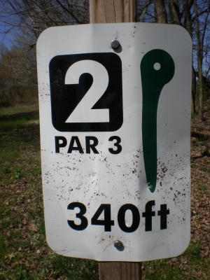 Boettler Park, Boettler park, Hole 2 Hole sign