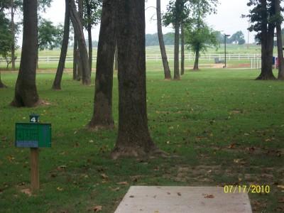 War Memorial Park, Main course, Hole 4 Tee pad