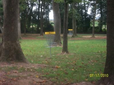 War Memorial Park, Main course, Hole 5 Short approach