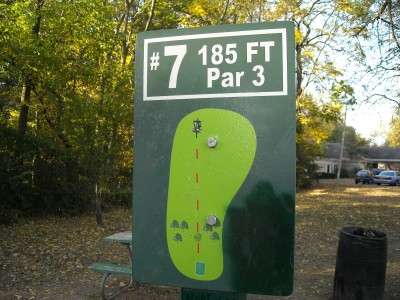 Wabash City Park, Main course, Hole 7 Tee pad