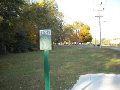 Wabash City Park, Main course, Hole 6 Tee pad