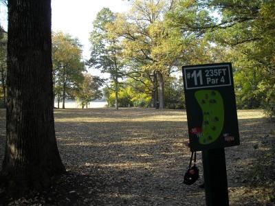 Wabash City Park, Main course, Hole 11 Tee pad