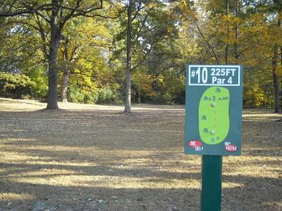 Wabash City Park, Main course, Hole 10 Tee pad