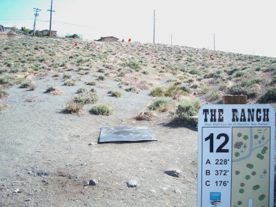 Rancho San Rafael Park, The Ranch, Hole 12 Hole sign