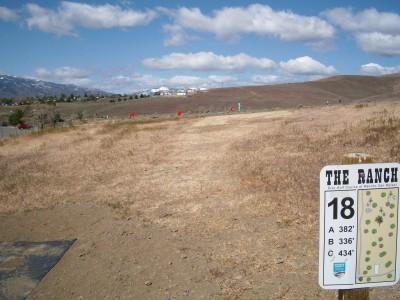 Rancho San Rafael Park, The Ranch, Hole 18 Hole sign