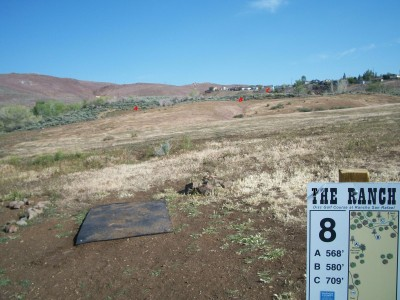 Rancho San Rafael Park, The Ranch, Hole 8 Hole sign