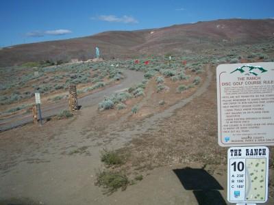 Rancho San Rafael Park, The Ranch, Hole 10 Hole sign