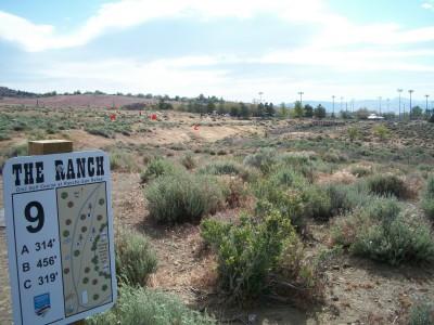 Rancho San Rafael Park, The Ranch, Hole 9 Hole sign