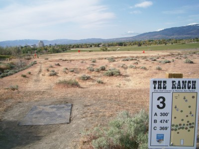 Rancho San Rafael Park, The Ranch, Hole 3 Hole sign