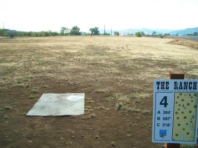 Rancho San Rafael Park, The Ranch, Hole 4 Hole sign