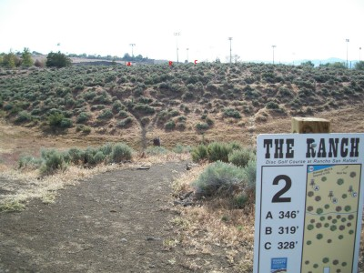 Rancho San Rafael Park, The Ranch, Hole 2 Hole sign