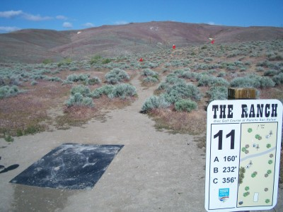 Rancho San Rafael Park, The Ranch, Hole 11 Hole sign