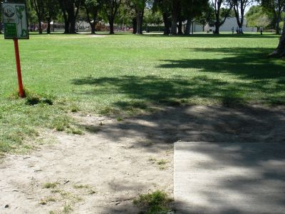 El Dorado Park, Main course, Hole 18 Tee pad