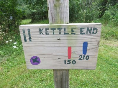 Phantom Lake YMCA Camp, Main course, Hole 11 Hole sign