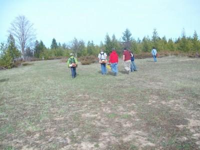 Lumberjack Meadows DGC, Main course, Hole 1 Tee pad