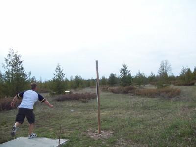 Lumberjack Meadows DGC, Main course, Hole 4 Tee pad