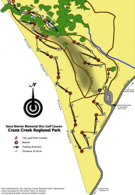 Crane Creek Regional Park, Steve Werner Memorial Course, Hole 1