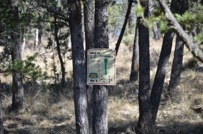 Camp of The Tall Pines, Main course, Hole 3 Hole sign