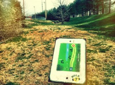 Mundy Park, Main course, Hole 7 Hole sign