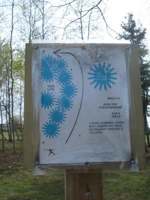 Al Quaal Recreation Area, Main course, Hole 6 Hole sign
