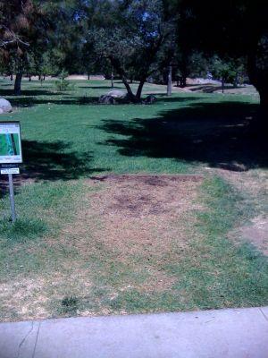 Kit Carson Park, Main course, Hole 9 Tee pad