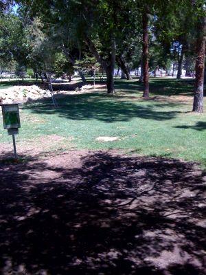 Kit Carson Park, Main course, Hole 8 Tee pad