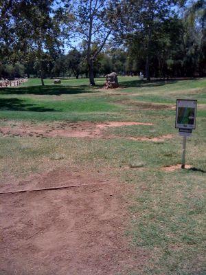Kit Carson Park, Main course, Hole 15 Tee pad