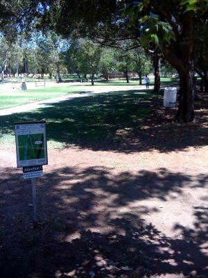 Kit Carson Park, Main course, Hole 7 Tee pad