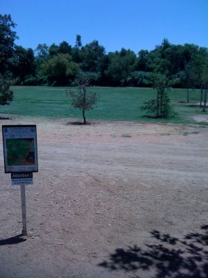 Kit Carson Park, Main course, Hole 18 Tee pad