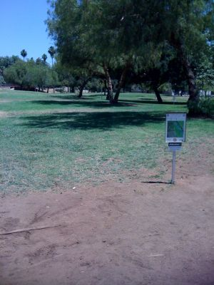 Kit Carson Park, Main course, Hole 11 Tee pad