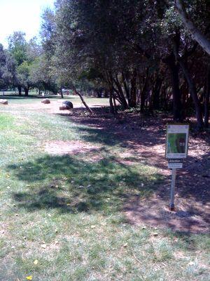 Kit Carson Park, Main course, Hole 16 Tee pad
