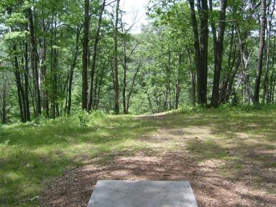 Hanson Hills Recreation Area, Grayling Rotary DGC, Hole 9 Tee pad